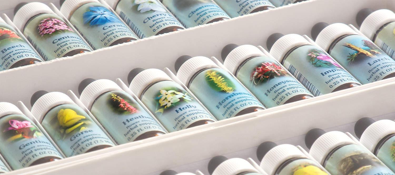 flower essence bottles