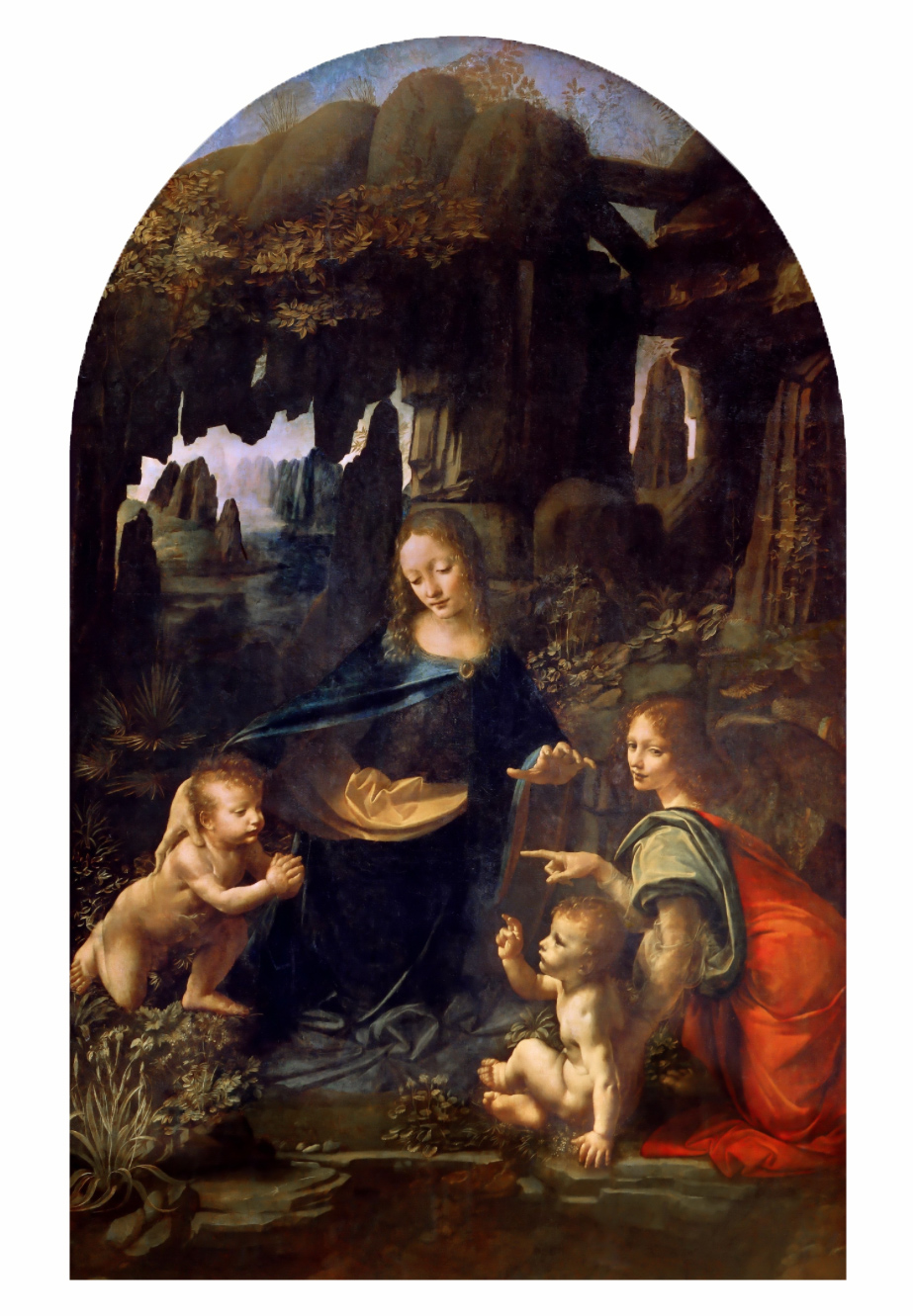 The Archetypal image of the Madonna on the Rocks expresses the gentle warmth of the Feminine Principle, welcoming the child in early life, bringing comfort even when circumstances and environment are harsh and unfavorable.